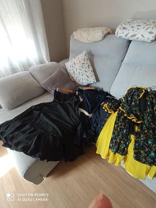 faldas y pañuelos de baile sevillanas