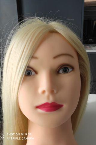 cabeza de maniquí peluqueria