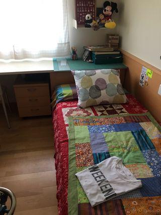 Cama y escritorio juvenil