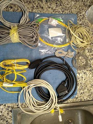 lote cables Ethernet, de calidad. y de telefonía.
