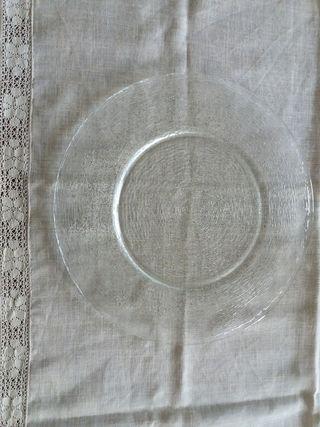 Plato - bandeja grande de cristal