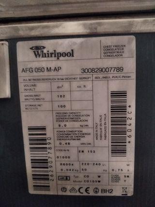 Arcón congelador Whirlpool