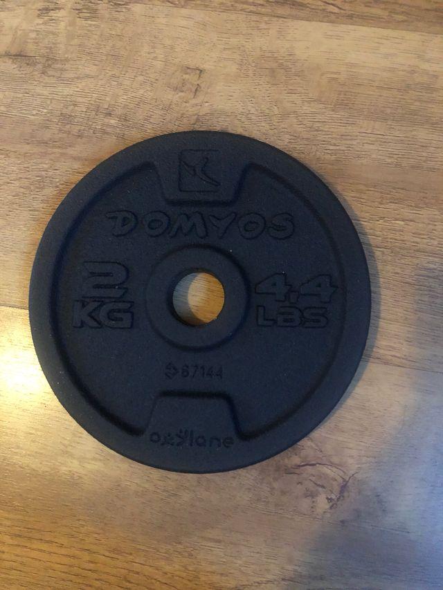 Weight training dumbbells DOMYOS 20kg
