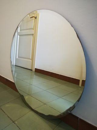 Espejo redondo grande - vintage