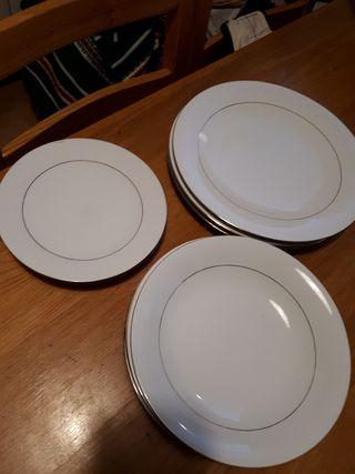 Mug taza Platos Llano para 4 personas 16 piezas Platos de Postre Blanca/'s Feel Vajilla Completa Moderna Porcelana color azul de Bowls Platos Hondo