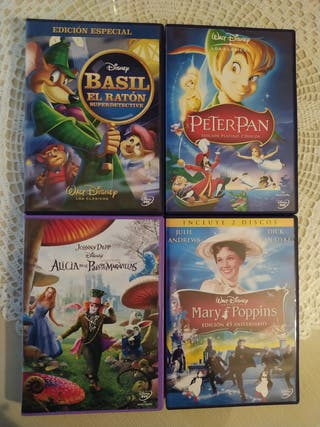 Disney DVD Basil, Peter Pan, Mary Poppins, Alicia