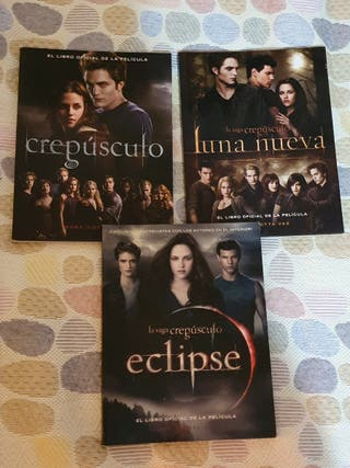 Libros Películas Crepúsculo, Luna Nueva y Eclipe