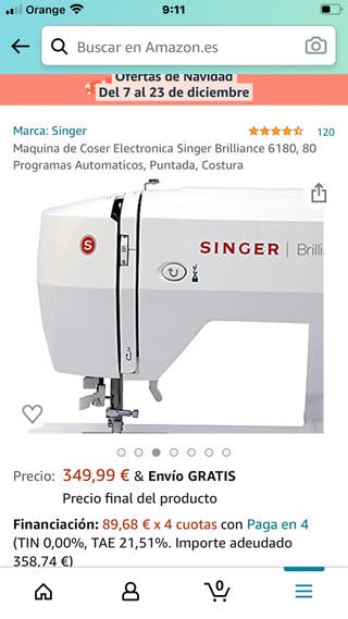 Máquina de coser Brillance