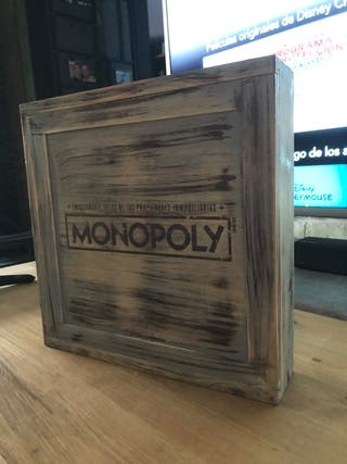 Monopoly vintage madera antigua
