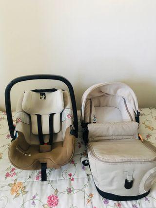 Capazo y silla de coche bebé