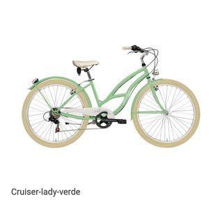 Bicicleta Cruiser Adriática Verde