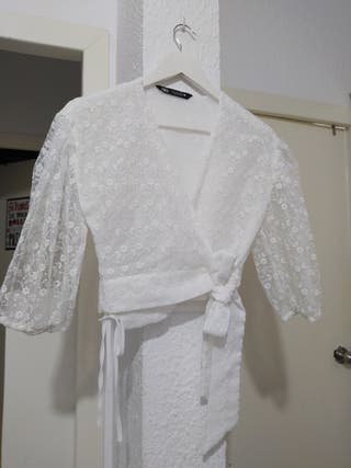 blusa blanca Zara talla 26 S