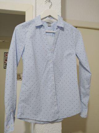 blusa azul mujer H&M talla 34