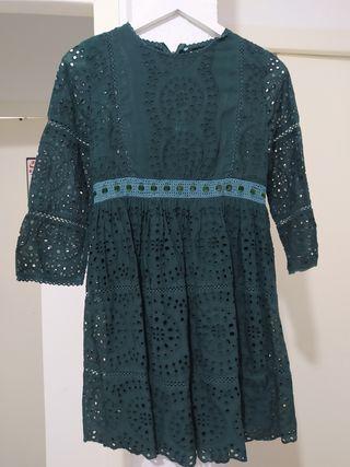 vestido Sfera verde talla S