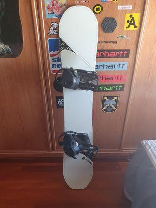 tabla snowboard burton vapor y fijaciones burton