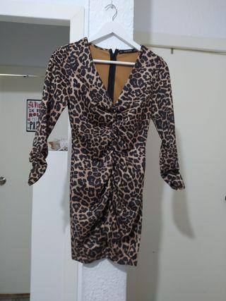 vestido Zara S animal Print - súper ceñido