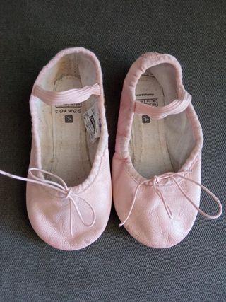 zapatillas ballet piel t.30