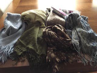Combinado de fulares y bufandas de invierno