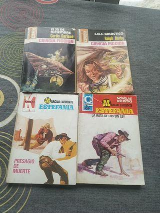 Novelas de bolsillo ciencia ficción y Estefania