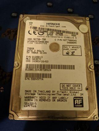 """Disco duro 750gb 2,5"""""""