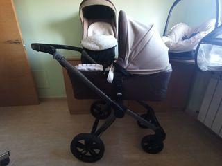 carro de bebe y cambiador