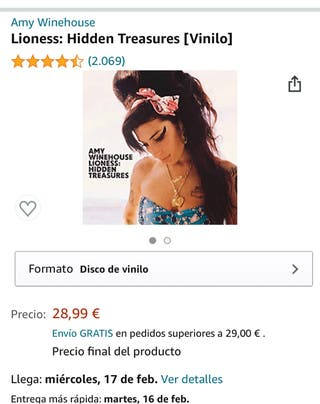 Vendo vinilo de Amy winehouse