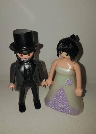 playmobil pareja novios boda ideal tarta