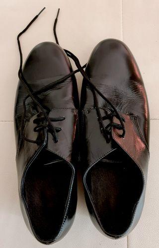 Zapatos de Baile de Salón Hombre de cuero Negro