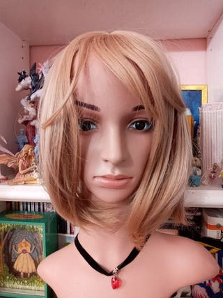 peluca mujer señora sintetica