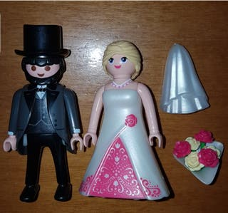 playmobil pareja novios boda ideal tartas velo