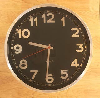 Reloj pared mural 35cm nuevo