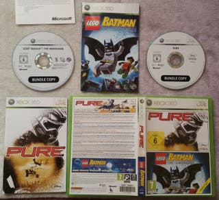 PURE Y BATMAN LEGO XBOX 360 SEMINUEVO