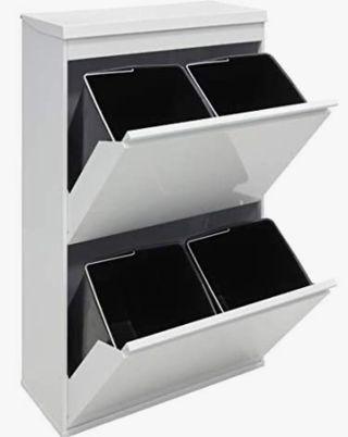 Mueble reciclaje metálico color blanco