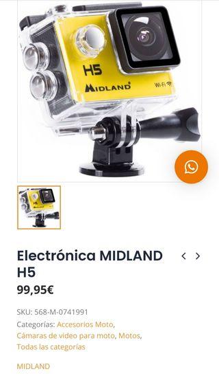 Cámara acción Midland H5 tipo GoPro