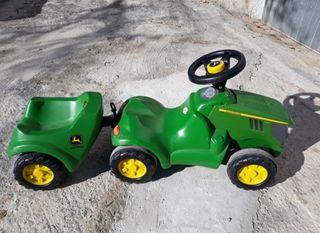 tractor john deere + remolque