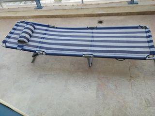 hamaca, tumbona de playa plegable