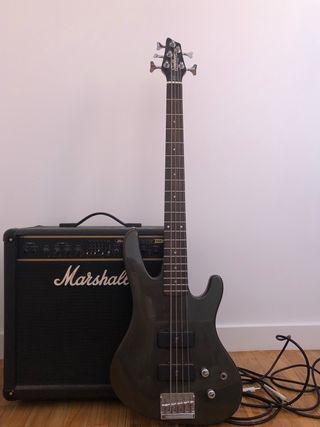 Bajo Washburn y amplificador Marshall
