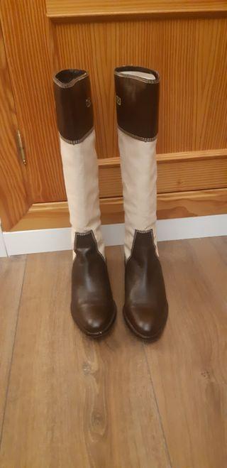 botas altas de piel uterque