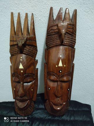 Dúo de Máscaras Africanas