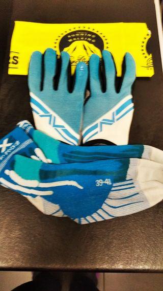 calcetines X-Shocks + Guantes Polaris+Buff