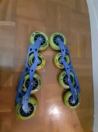 Guia de patines de velocidad Double X