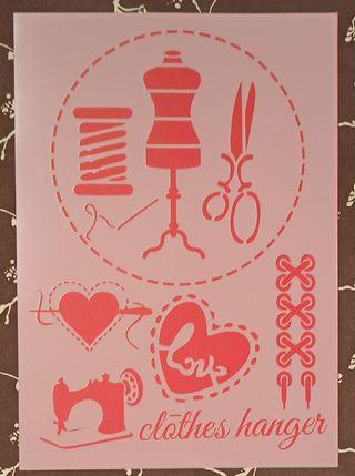 Plantilla o stencil A4 mix media costura patchwork