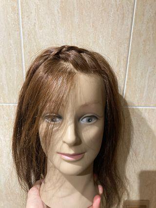 Cabeza maniquí peluquería sintética