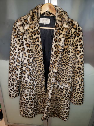 Abrigo Zara Animal Print Leopardo