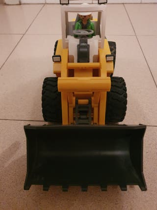 retroexcavadora playmobil