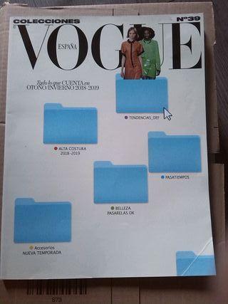 Vogue España. Colecciones. N. 39. Otoño 2018 2019