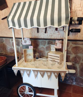 Candy bar carrito/ mesas dulces comuniones y bodas