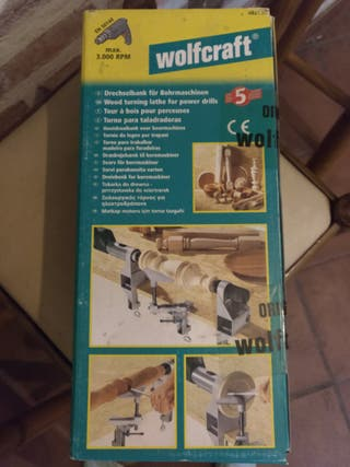 Torno de madera para taladro Wolfcraft 4821000