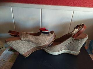 sandalias esparto cuña
