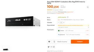 grabadora Blu-ray. practicamente nueva